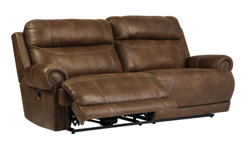 Austere Brown 2 Seat Reclining Power Sofa