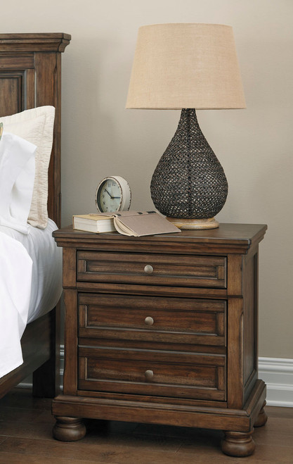 Flynnter Medium Brown Two Drawer Night Stand