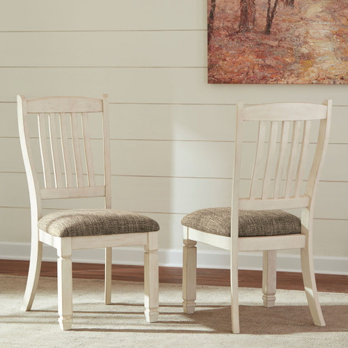 Bolanburg Two-tone Dining Upholstered Side Chair