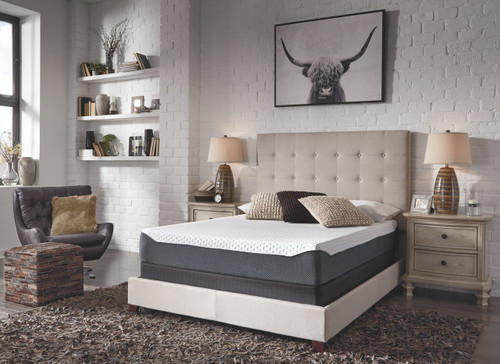 10 Inch Chime Elite White/Blue Full Mattress