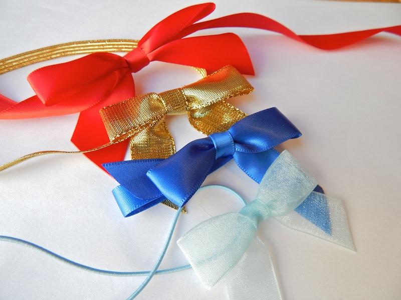 ribbon pre-tied bows