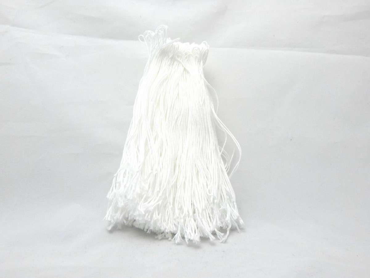 "4"" and 6"" White Cotton Tag Loops"