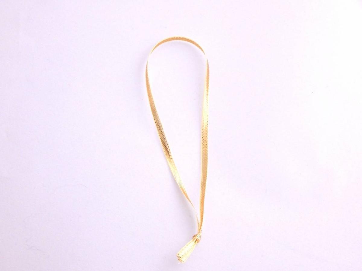 "5"" Metallic Gold Ribbon Loops"