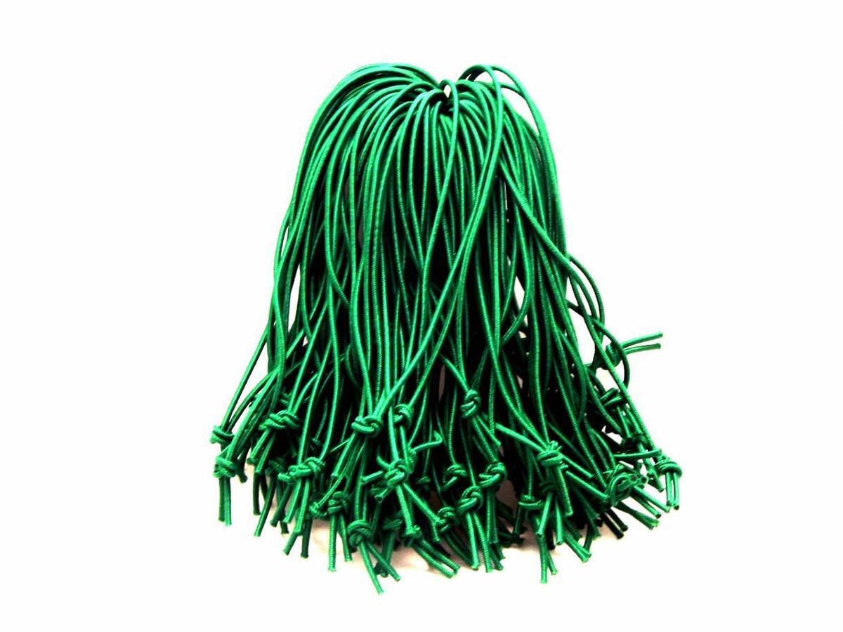 "3.5"" Green Elastic Tag Loops"