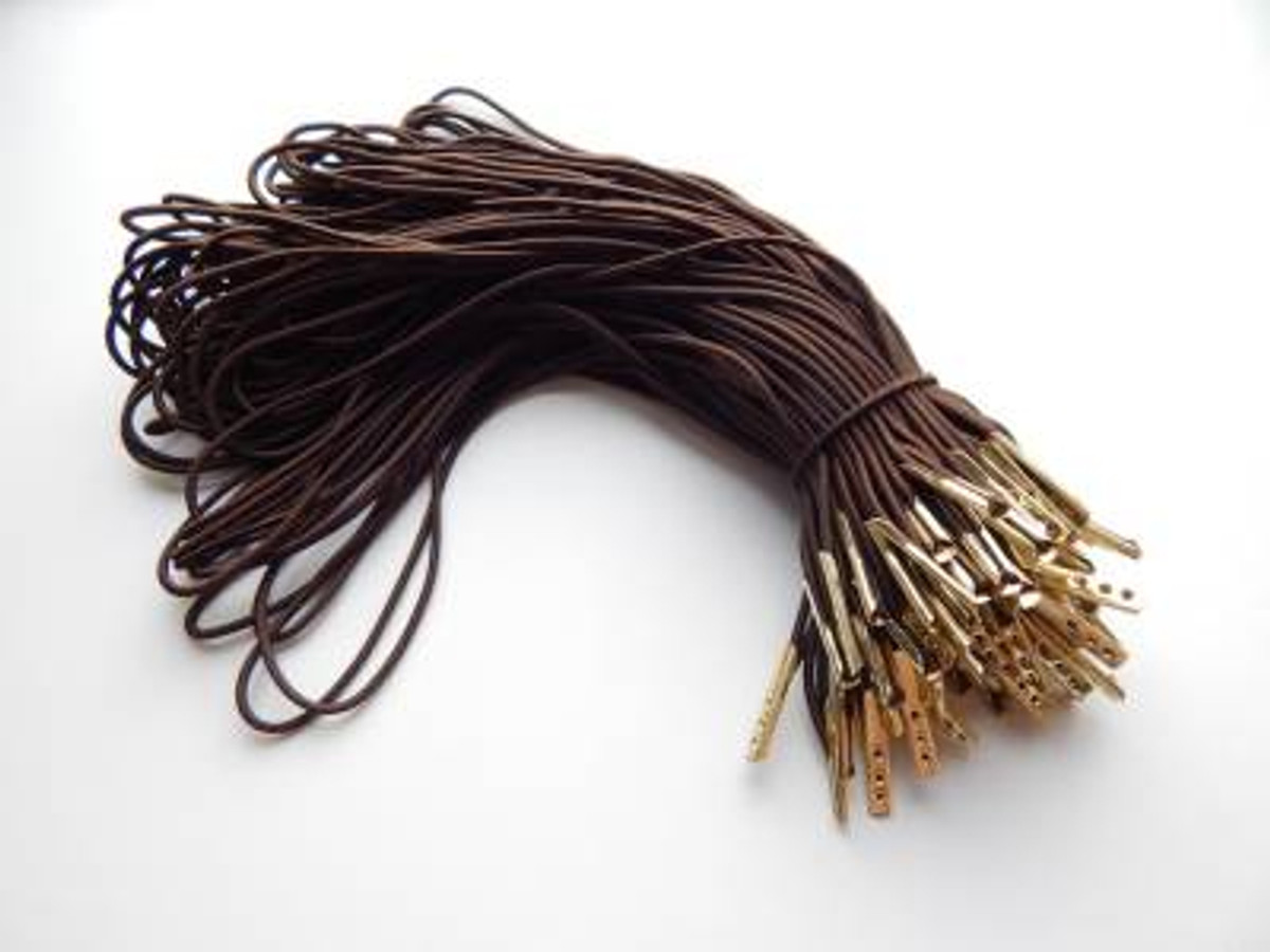 "8.5"" Brown Elastic Loop with Gold Barb"