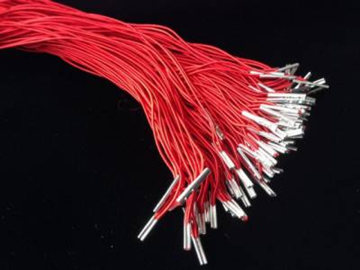 "8"" Red Elastic Loop with Silver Barb"