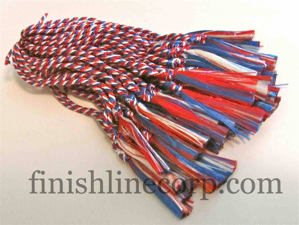 Red, white and blue bookmark tassels