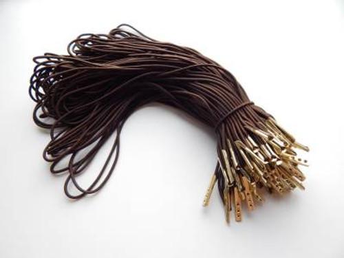 """8.5"""" Brown Elastic Loop with Gold Barb"""