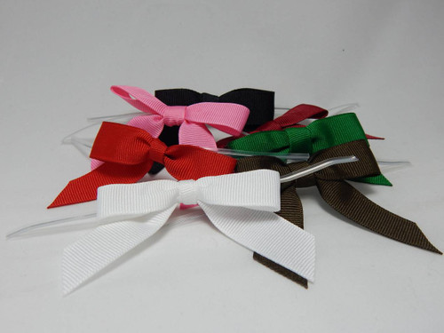 Grosgrain Twist-tie Bows