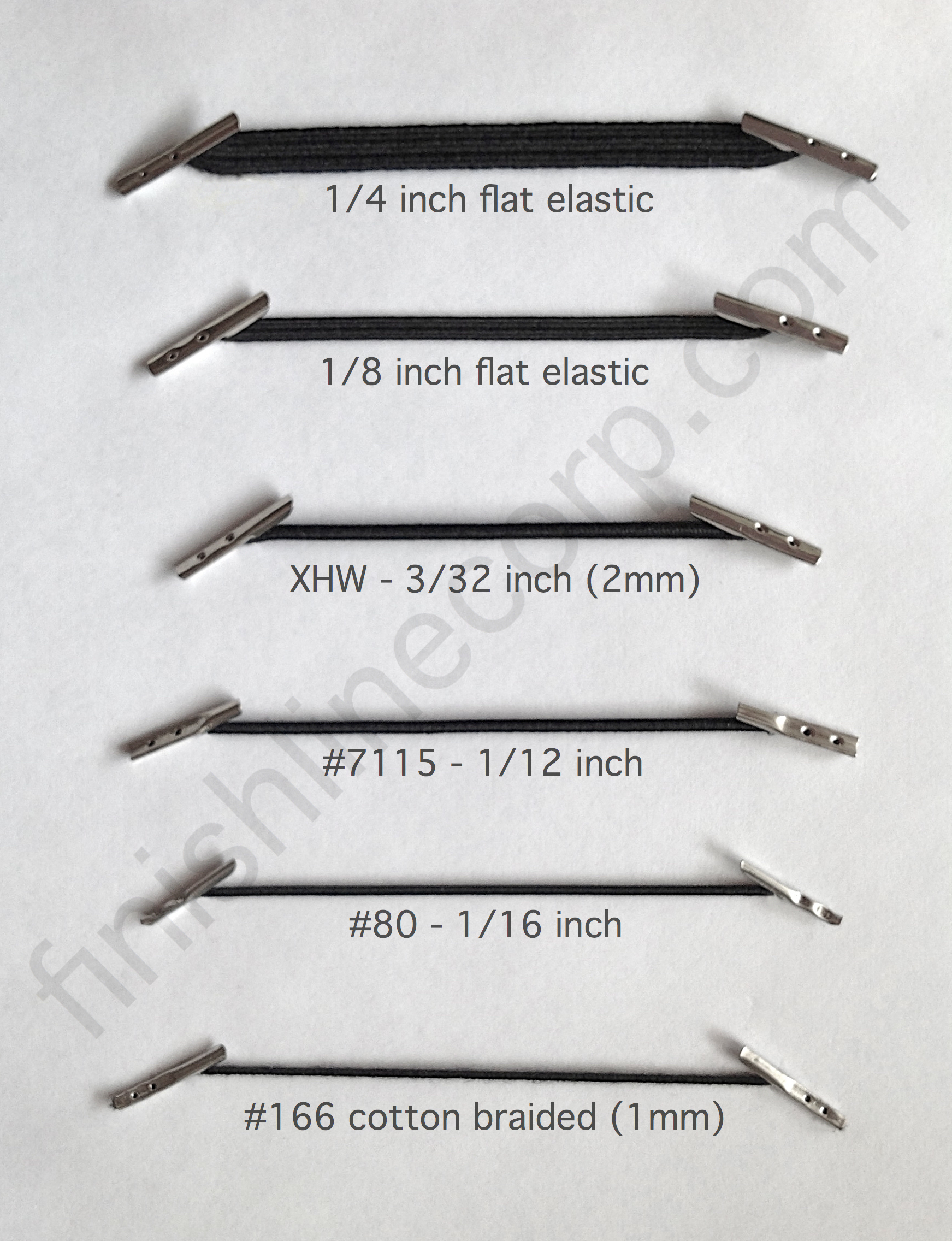 View barbed elastic cord sizes