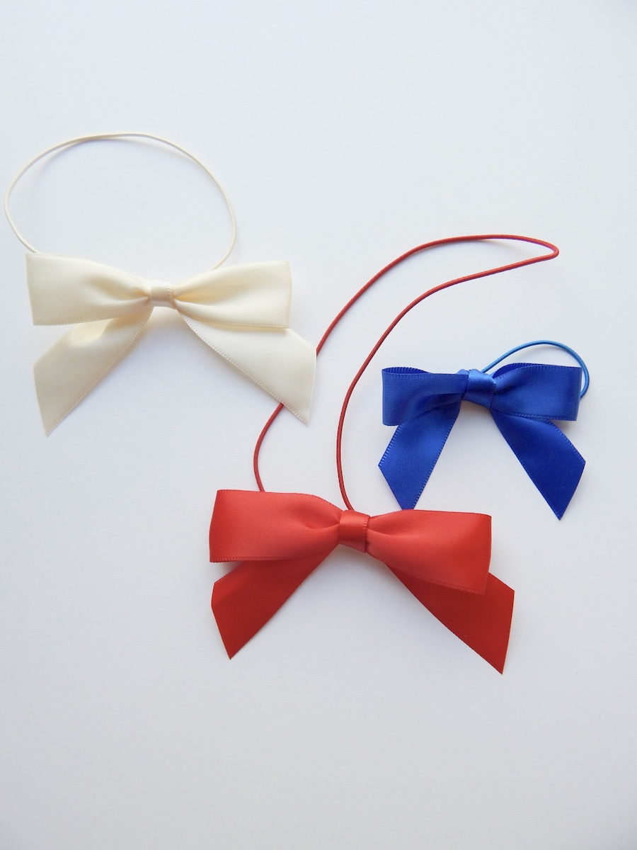 Pre-tied Ribbon Bows with Ribbon Loops