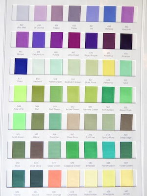 Grograin Ribbon Colors 3/4