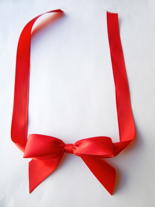 Pre-tied Bow with Peal and Stick Ribbon