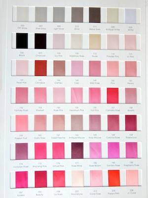 Satin Ribbon Colors 1/4