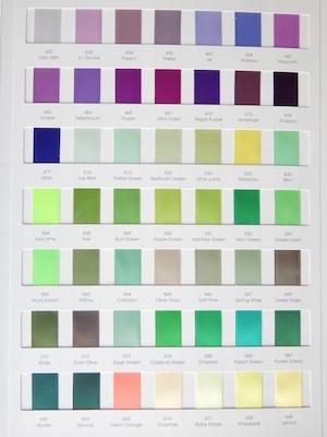 Satin Ribbon Colors 3/4