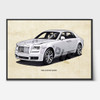 Rolls Royce Ghost art prints
