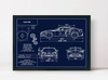 Subaru BRZ Blueprint Art Print