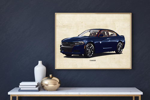 Dodge Charger Art Print