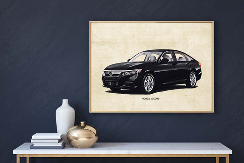 Honda Accord Art Print