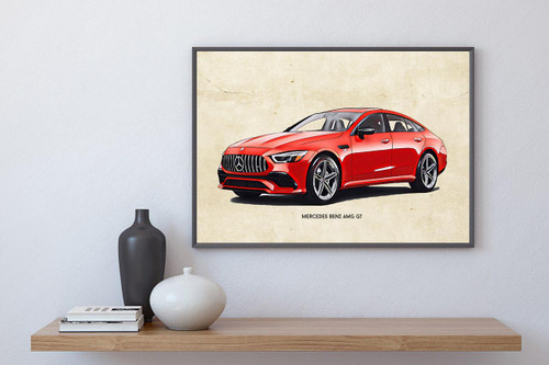 Mercedes Benz AMG GT Art Print