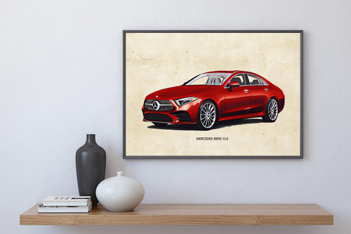 Mercedes Benz CLS Art Print