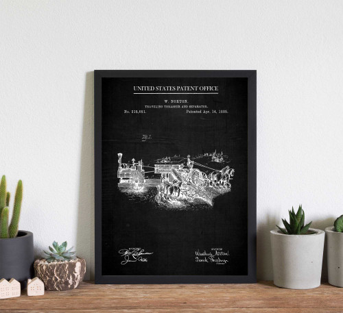 Farm Traveling Thrasher Patent Art Print