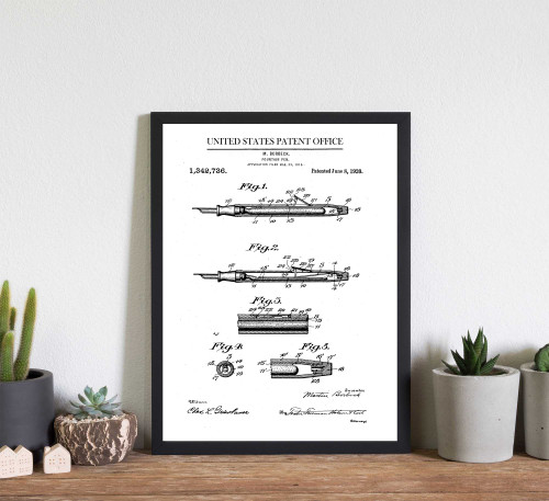 Fountain Pen Patent Art Print