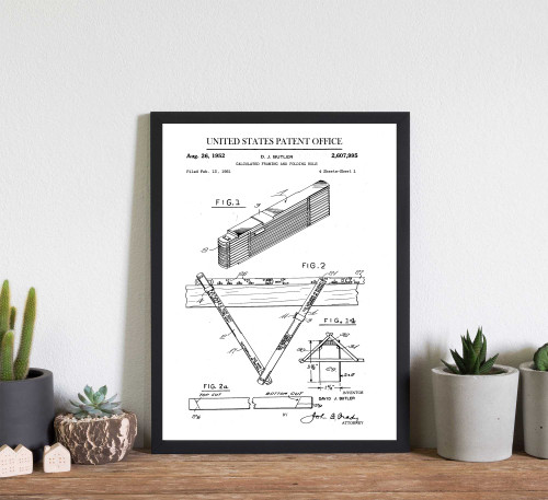 Framing and Folding Measuring Tool Patent Art Print