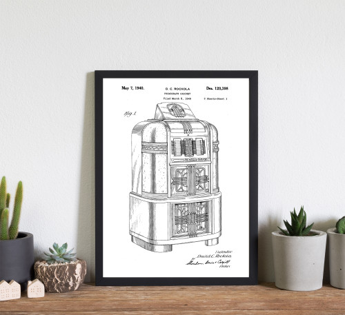 Jukebox Phonograph Cabinet Patent Art Print