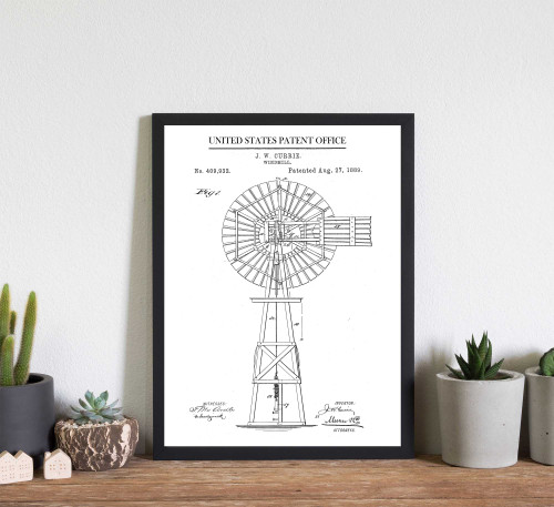 Windmill Patent Art Print