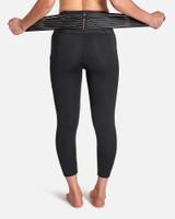 Black - Women's Pro-Grade Lower Back Support Leggings with Adjustable Straps