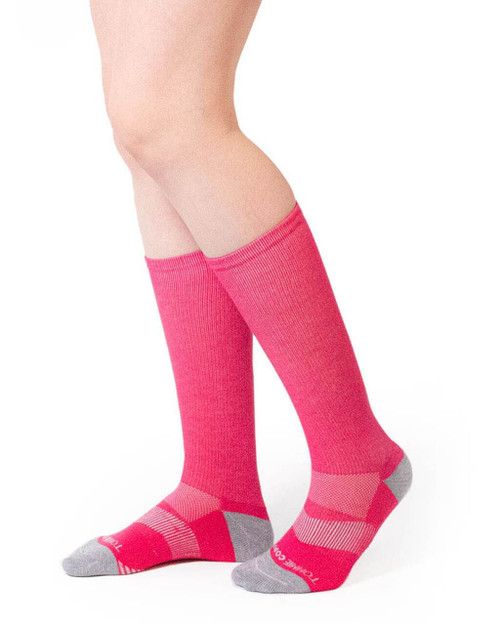 Pink - Women's Core Everyday Over the Calf Compression Sock
