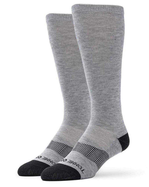 Grey - Men's Core Everyday Over the Calf Compression Sock