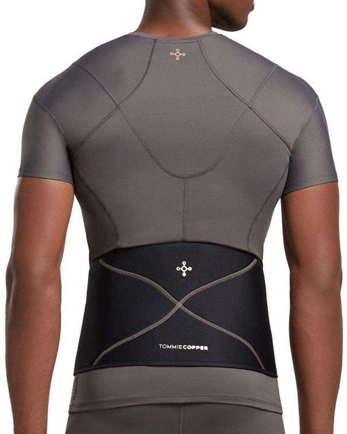 Black - Men's Comfort Back Brace