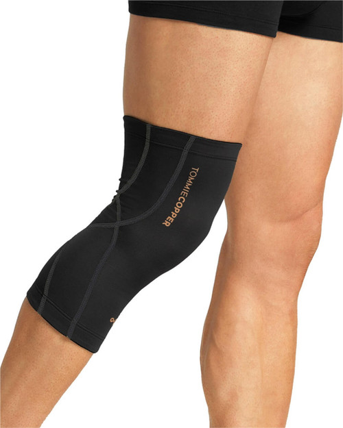 Black with TC Tonal Stitch - Men's Performance Compression Knee Sleeve