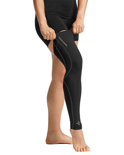 Black with TC Tonal Stitch - Women's Performance Compression Full Leg Sleeve