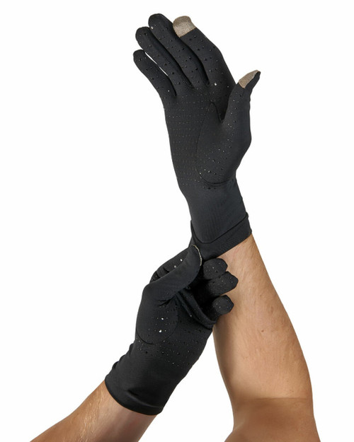 Black - Men's Core Compression Full Finger Gloves