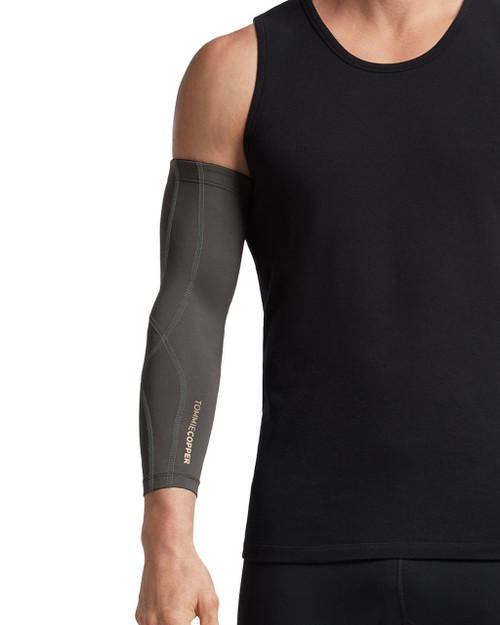 Slate Grey with TC Tonal Stitch - Men's Performance Compression Full Arm Sleeve