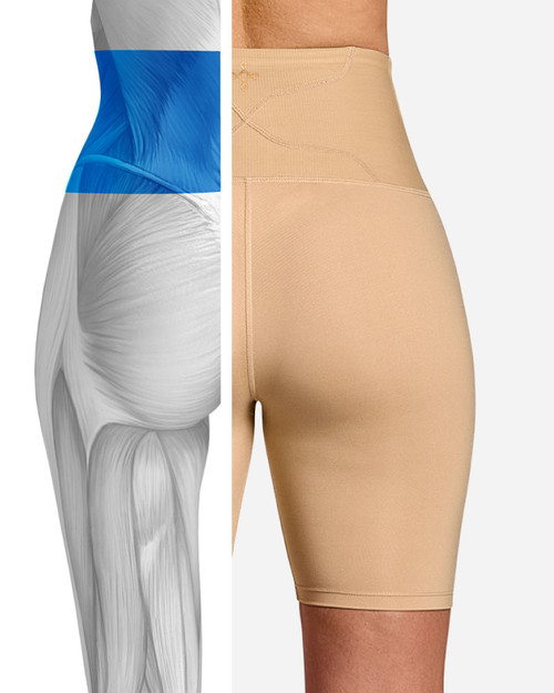 Nude - Women's Lower Back Support Shorts