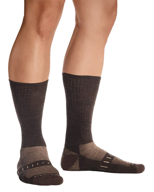 Brown Heather - Men's Pro-Grade Mid-Weight Wool Hiker Sock