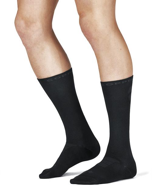Black - Men's Performance Compression Dress Crew Socks