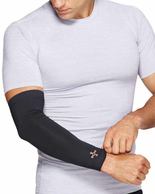 Black - Men's Core Compression Full Arm Sleeve