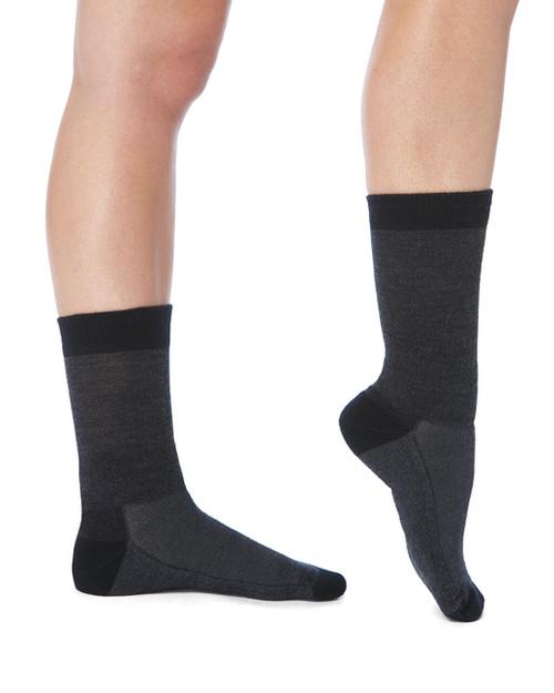 Charcoal - Women's Pro-Grade Wool Compression Crew Socks