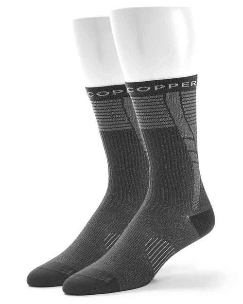 Charcoal - Women's Performance Compression Dress Crew Socks