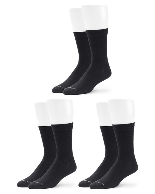 Black - Women's 3-Pack Core Compression MicroModal® Crew Socks