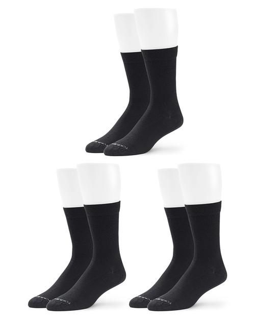 Black - Women's 3-Pack Core Compression MicroModal® Crew Socks