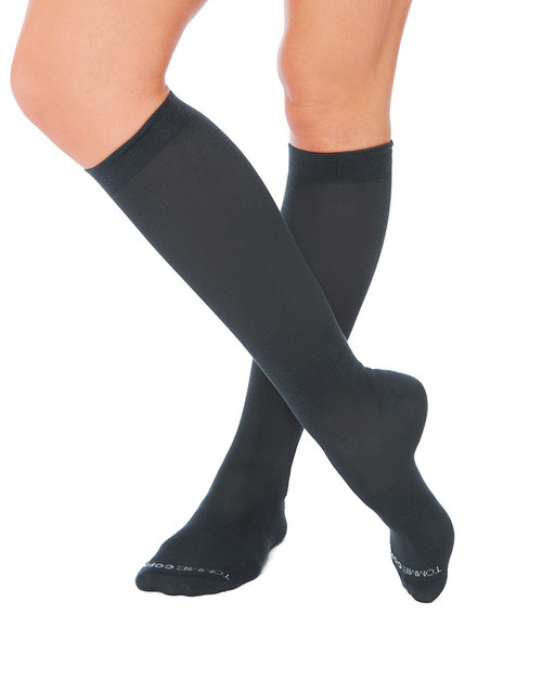 Charcoal - Women's Core Compression MicroModal® Over The Calf Socks