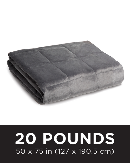 Slate Grey - Tommie Copper Weighted Blanket 20LB (Znergy Free)