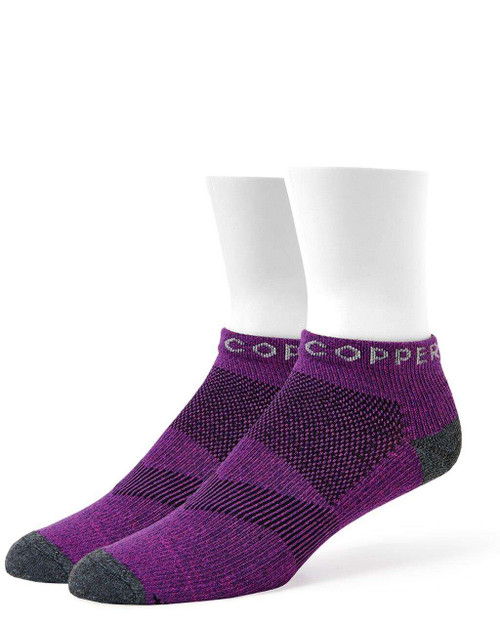 Purple Penant - Women's Core Ultra-Fit Compression Ankle Socks