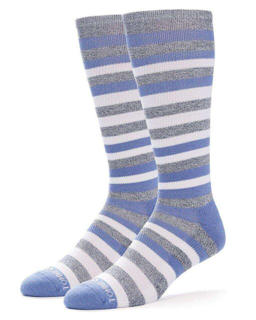 Grey Heather with Country Blue - Women's TruTemp Ultra-Fit Over The Calf Socks